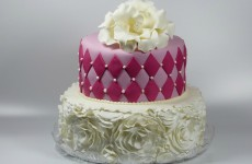 Diamonds and ruffles cake